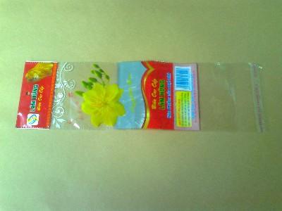 Túi OPP cán màng ngọc, dán băng keo in đũa Lâm Hùng