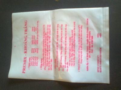 Túi PE sữa in màu đỏ